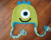 Monster Hat - Baby to Adult Sizes - You Choose Color