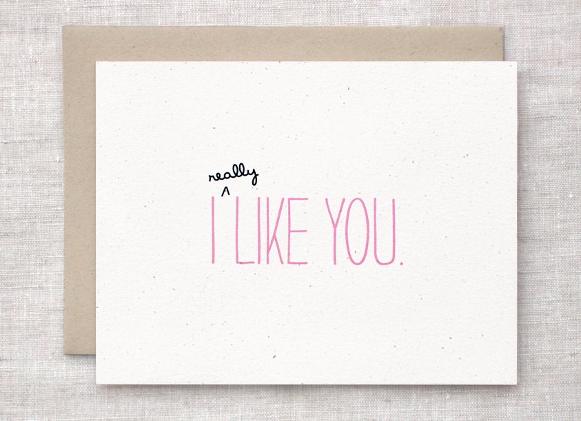 I Like You - Eco Friendly Anniversary Card by Happy Dappy Bits