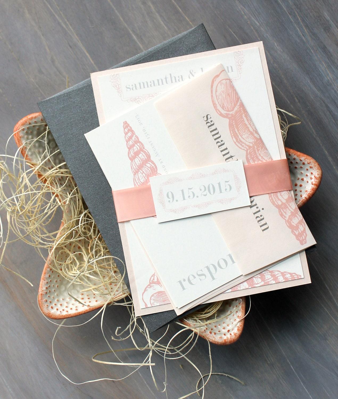 beach wedding invitations blush peach beach wedding invitations Elegant Beach Invitations Wedding zoom