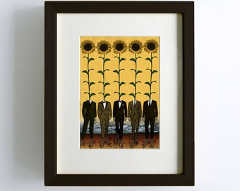 Sunflowers In Suits Print