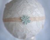 Cream Lace Snowflake  Newborn Headband
