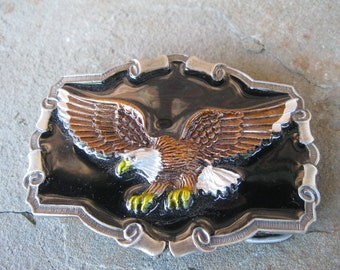 American Eagle Belt Buckle Bird Watcher Outdoors Great American Buckle Co