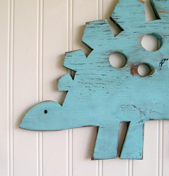Stegosaurus Dinosaur Sign Medium Wall Art  Sign Kids Children's Room Nursery Decor