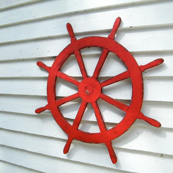 Etsy Coastal Wall Decor : Ships wheel sign nautical helm beach by slippinsouthern
