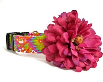 Dog Collar Flower, Pink Flower, Wedding Dog Collar, Girly Dog Collar, Detachable Flower, Pink Dog Collar Flower, Pink Dog