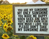 You Are My Sunshine - hand pulled screen print Poster - 22x28