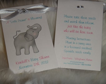 Elephant Seed Packets for a Baby Shower or 1st Birthday Party Flower Seeds Party Favors SALE CIJ Christmas in July