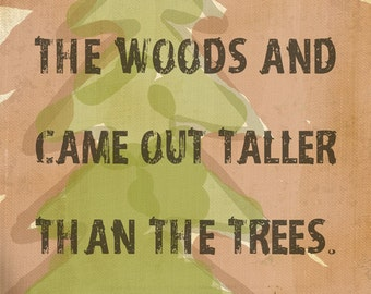 "Outdoor Decor ""I Took A Walk In The Woods"" Quote by Thoreau Gallery Wrapped Canvas Art"