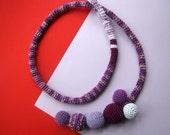 Crochet Necklace , Crochet Jewelry , Women Accessories , Choker , Crochet Tie Necklace