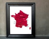 "Best of French Wine Word Art, 11""x14"" on Fine Art Paper"