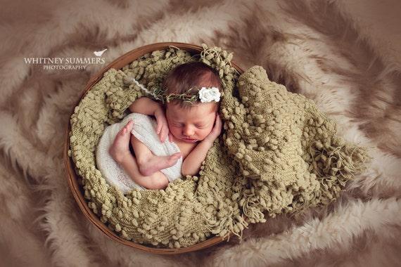 White Flower Newborn Crown