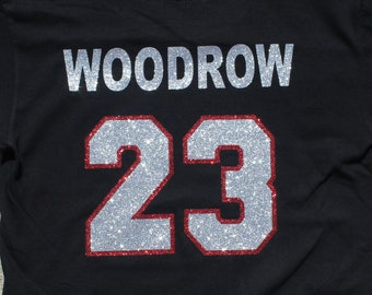 Glitter Bling Custom name and number add-on