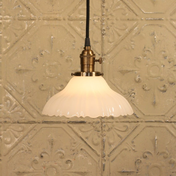 Vintage Lighting with Vintage Sheffield Style Shade and Reproduction Wire