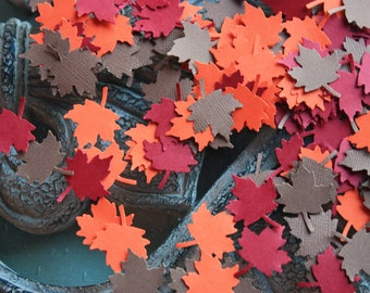 150 Maple Leave Confetti / Die Cut / Cutout  CHOOSE COLORS