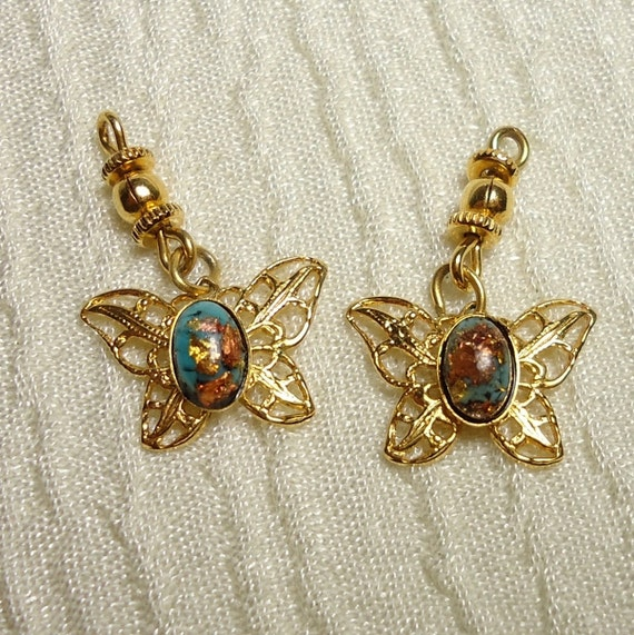 CLEARANCE: Butterfly Charms - Set of 2