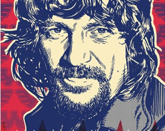Waylon Jennings - Pop Art Print - 13x19