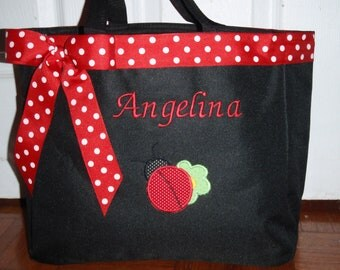 Personalized Ladybug Baby Diaper bag Tote Bag
