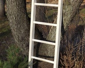 """ladder/ Reclaimed wood/ pine/ distressed/ white/ decorative style decor/ 50"""" H x 15"""" W"""