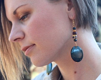 AFRICAN PRINCESS Handcrafted Bone Earrings