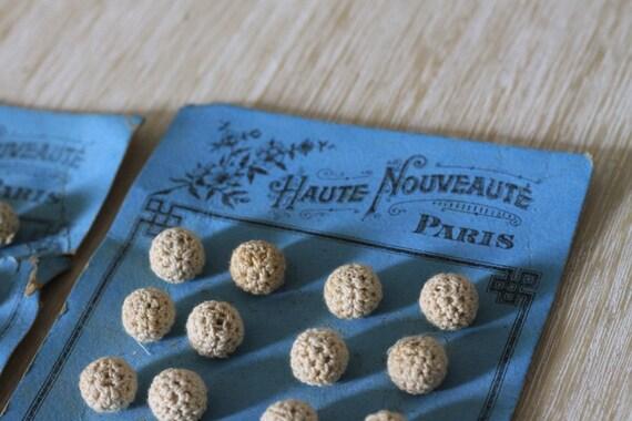 Vintage French Buttons Crochet Wedding Paris 1940s