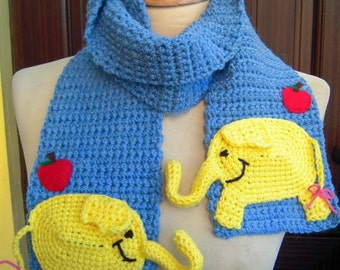 Crochet Tree Trunks the Elephant from Adventure Time Scarf - Made to Order