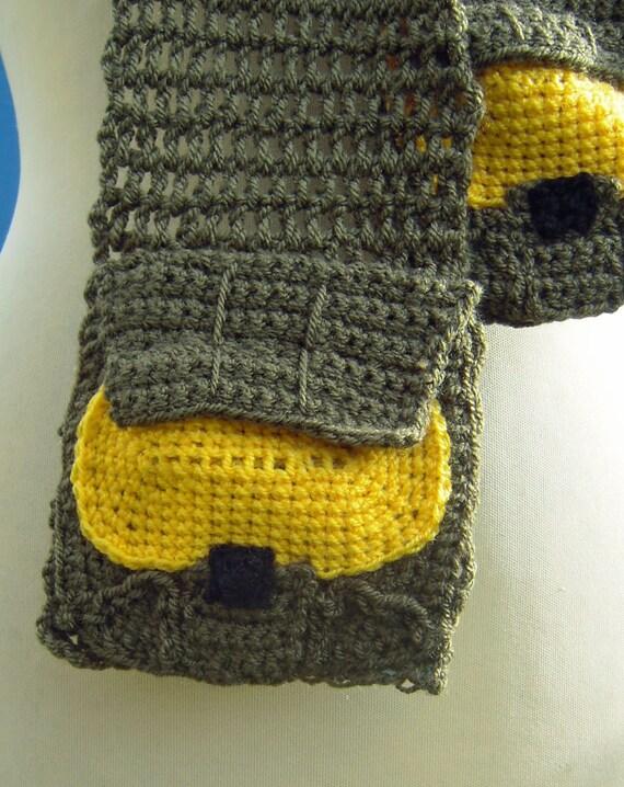 Crochet Master Chief Halo Scarf
