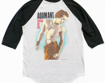 Vintage Adam Ant Shirt Baseball T ORIGINAL 1983