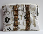 Steampunk/ Vintage Inspired Clutch with Ruffles