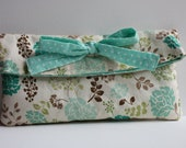 Floral Fold-Over Clutch with Bow