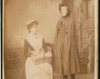 Halloween 1870 CDV of Spooky Cloaked Figure Bizarre Eerie Photograph