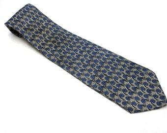 Blue Black Necktie Silk Tie