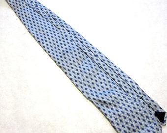 Vintage Necktie Hart Schaffner Marx Blue Silk Tie