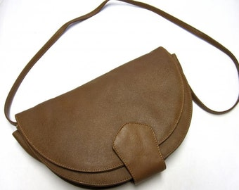 Brown Purse Envelope Clutch Shoulder Bag