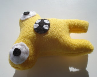 Baby Monster Dog Toy - Herman Hammerhead - Yellow - For Teacup Dogs