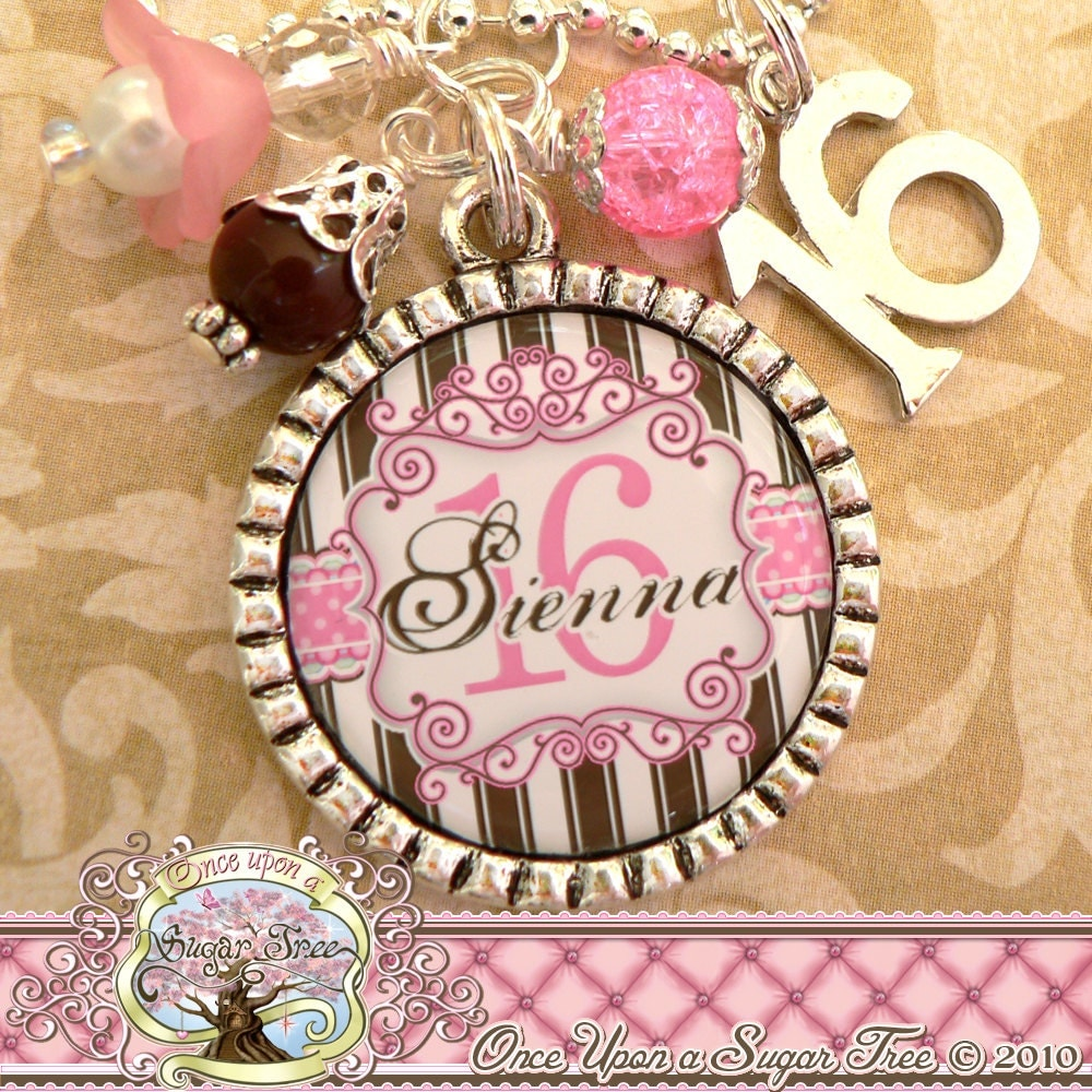 SWEET 16 Gift Personalized Name Necklace Or Key Chain