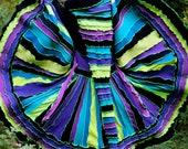 Custom made to order upcycled recycled sweater  kaleidoscope coat