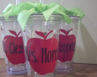 Personalized Teacher Tumblers  - teacher appreciation - sunday school teacher -