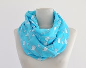 Accessories Scarf Long Cotton Aqua Tiffany Blue Pelikan