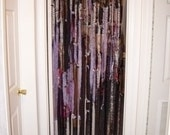Lower Price. Free Ship Door curtain/divider hippie bobo goth upcycled