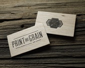 Custom Letterpress Wood Business Card and Graphic Design Package - 100qty