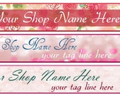 Ready Made Shabby Chic Pink Rose Banners - You Pick One