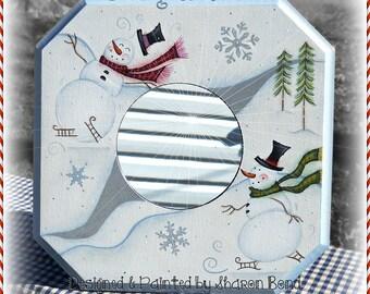 E PATTERN - Going Skatin' - Snowmen skating in a Winter Scene - Designed & Painted by Sharon Bond - FAAP