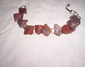 vintage bracelet agate stones