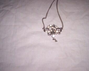vintage necklace choker rhinestone