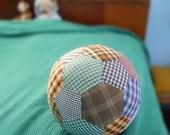 Pillow ball, patchwork in boy fabrics