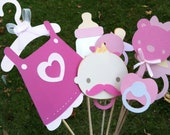 PINK PHOTO BOOTH props for baby showers