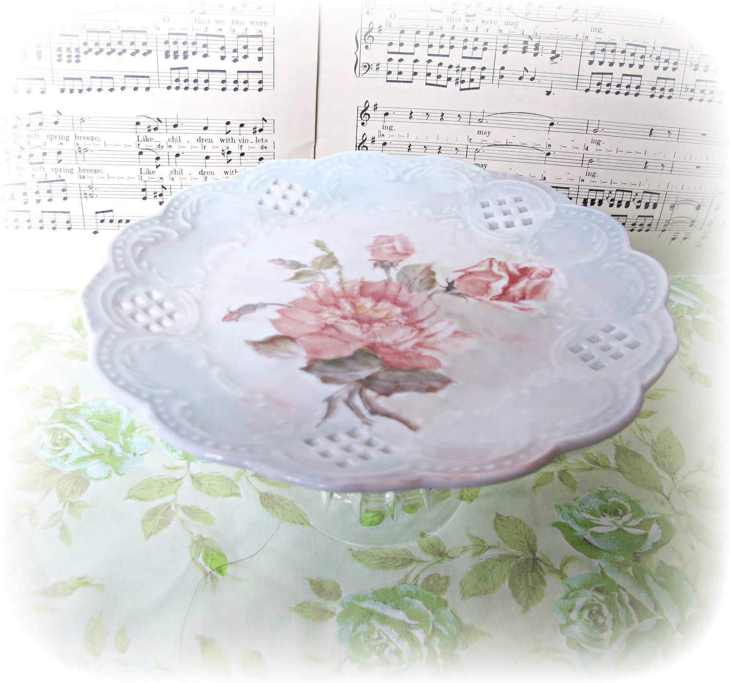 image dessert stand domum vindemia handpainted plate pedestal party hostess