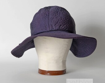 60s Hat Purple Sun Hat Floppy Brim Hat Wide Brim Hat  Mr. Fredericks Vintage 1960s Summer Hat Purple Hat with Bow Purple Picture Hat