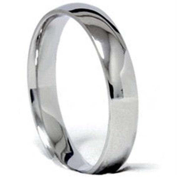 Platinum 4mm Wedding Band: 4MM Platinum Wedding Band High Polished Ring Size 4-12