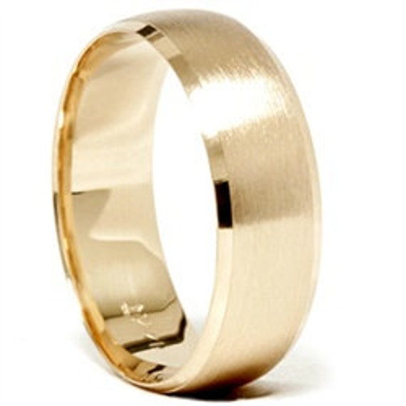 Gold wedding bands mens